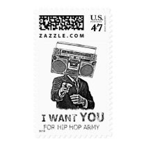 music, graffiti, funny, swag, cool, hip-hop, old school, boombox, urban, stamp, ghetto blaster, street, urban art, humorous, parody, fun, postage, Stamp with custom graphic design