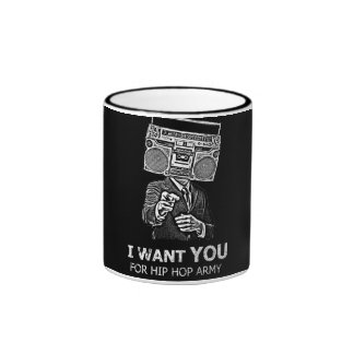 I want you for hip-hop army ringer coffee mug