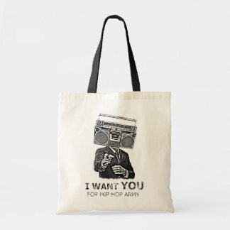I want you for hip-hop army tote bag