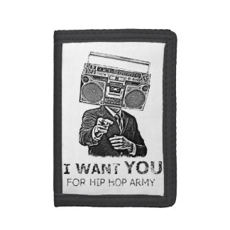 I want you for hip-hop army tri-fold wallets