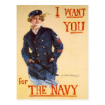 I want you for the Navy Post Card