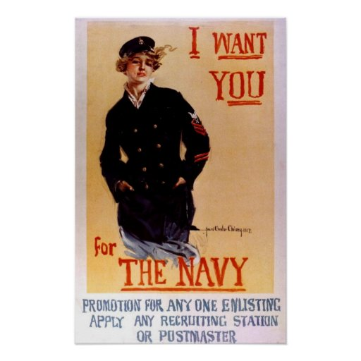 """""""I Want You for The Navy"""" Poster"""