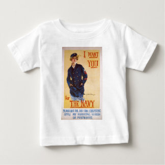 I Want You For The Navy World War I Recruiting Baby T-Shirt