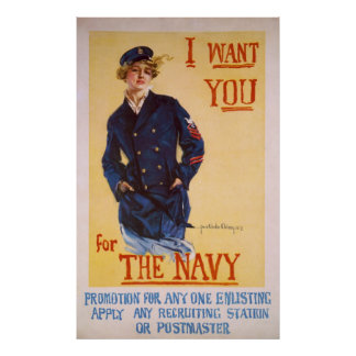 I Want You For The Navy World War I Recruiting Poster