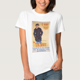 I Want You For The Navy World War I Recruiting T-shirt