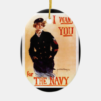 I Want You For The Navy ~ WW I US Poster 1917 Ceramic Ornament