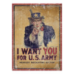 I Want You for the U.S. Army Print