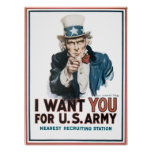 I want YOU! for United States Army Posters