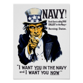 I Want You In The Navy! Poster