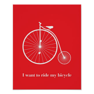 I want you laugh my bicycle print