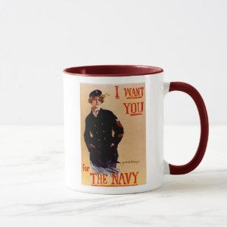 I Want You Navy Mug