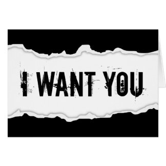 i want you page rip stationery note card