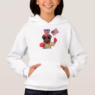I want you ,pug ,uncle sam dog, hoodie