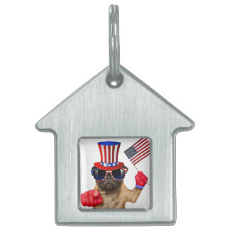 I want you ,pug ,uncle sam dog, pet name tag