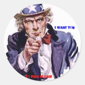 I Want You sticker