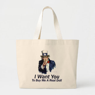 I Want You:  To Buy Me A Real Doll Tote Bag