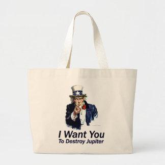 I Want You:  To Destroy Jupiter Canvas Bag