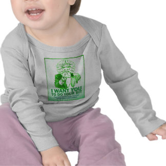 I Want You to do your bit - Green Man Speaks Tshirts