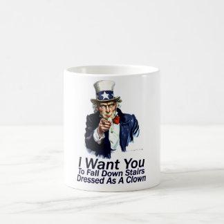 I Want You:  To Fall Down Stairs Coffee Mug