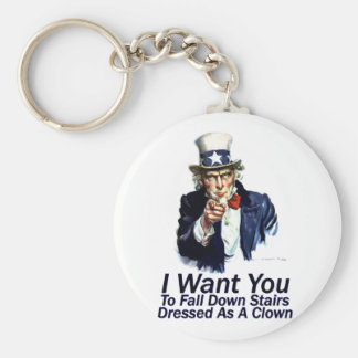 I Want You:  To Fall Down Stairs Keychain