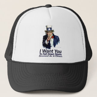 I Want You:  To Fall Down Stairs Trucker Hat