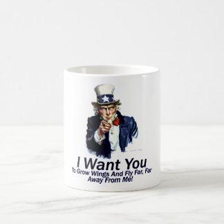I Want You:  To Grow Wings Coffee Mug
