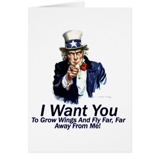 I Want You:  To Grow Wings Greeting Cards