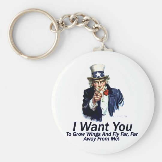 I Want You:  To Grow Wings Keychain