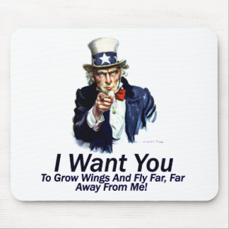 I Want You:  To Grow Wings Mouse Pad