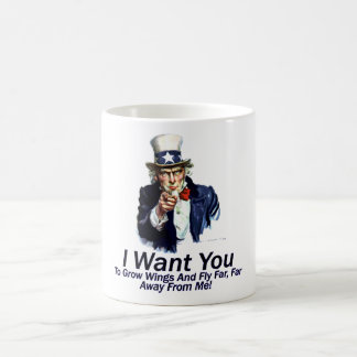 I Want You:  To Grow Wings Mugs