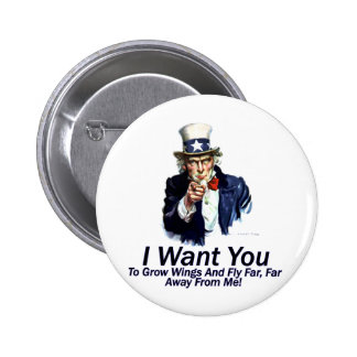 I Want You:  To Grow Wings Pinback Buttons