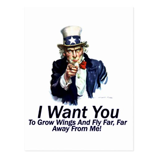 I Want You:  To Grow Wings Postcard