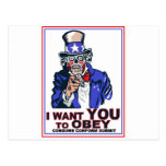 I Want You to OBEY! Postcards