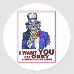 I Want You to OBEY! Sticker