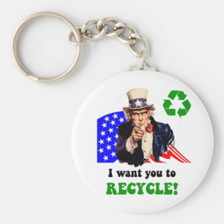 I want you to recycle! keychain