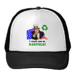 I want you to recycle! mesh hat