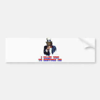 I WANT YOU TO RESTORE ME BUMPER STICKER