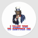 I WANT YOU TO RESTORE ME CLASSIC ROUND STICKER