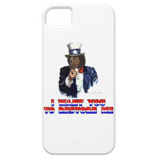 I WANT YOU TO RESTORE ME iPhone 5 COVER