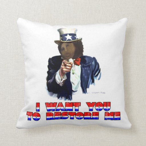 I WANT YOU TO RESTORE ME PILLOW