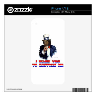 I WANT YOU TO RESTORE ME DECAL FOR THE iPhone 4S