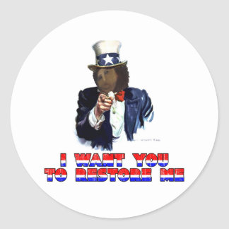 I WANT YOU TO RESTORE ME STICKER