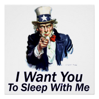 I Want You:  To Sleep With Me Canvas Print
