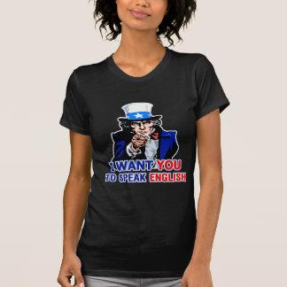 I Want You To Speak English Ladies Dark T-Shirt