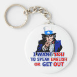 I Want You To Speak English Or Get Out Keychain