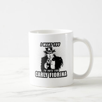 I want you to vote for Carly Fiorina Coffee Mug