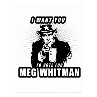 I want you to vote for Meg Whitman Postcard