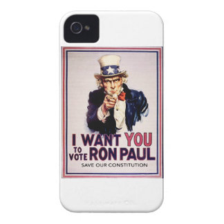I Want You To Vote For Ron Paul Revolution iPhone 4 Cover