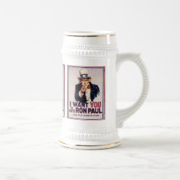I Wan't You to Vote RON PAUL Save our Constitution Beer Stein