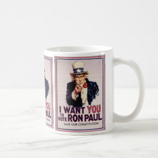 I Wan't You to Vote RON PAUL Save our Constitution Coffee Mug